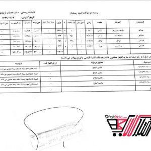 نمونه رسید پستی فروشگاه اینترنتی آفتاب کالا